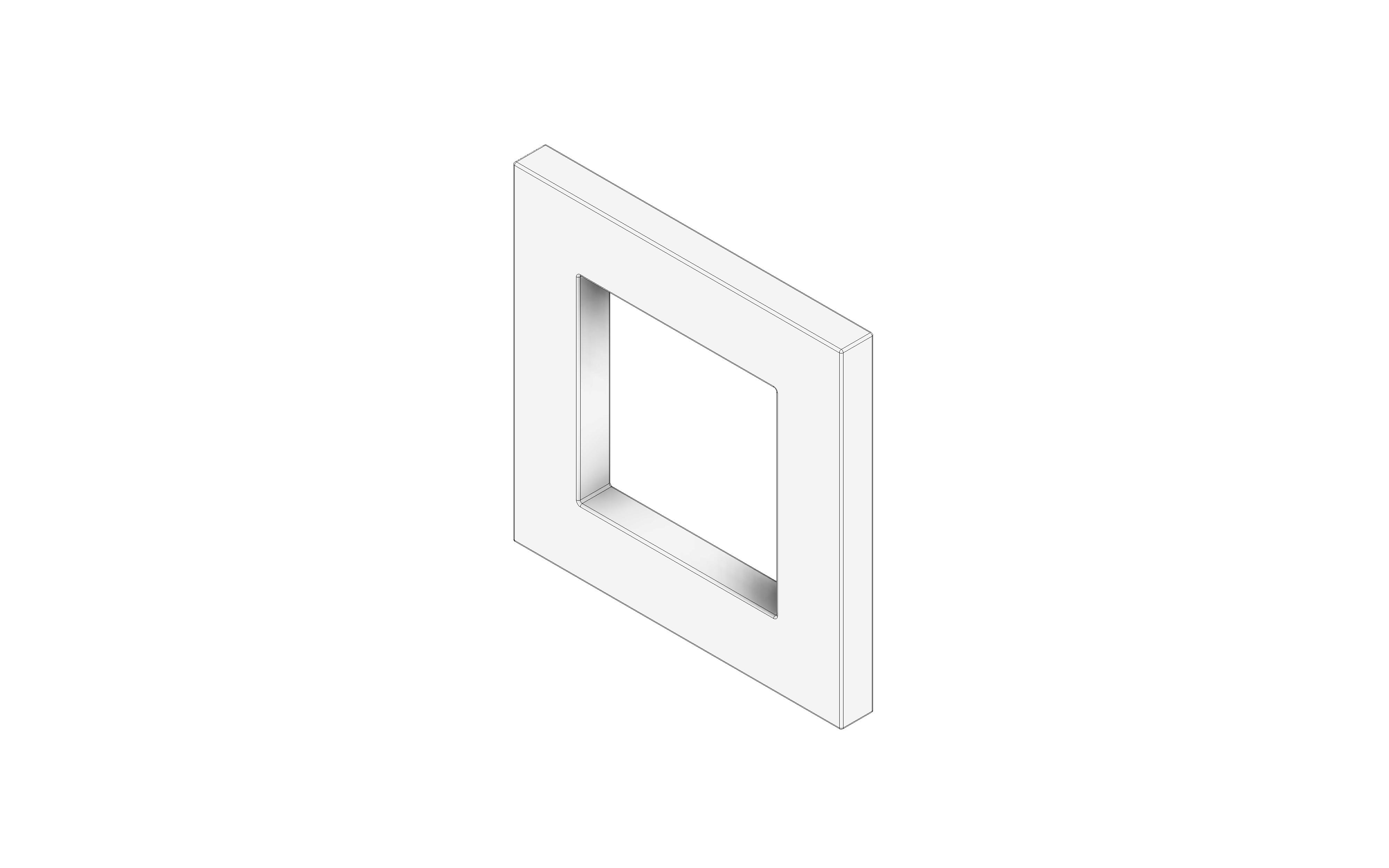 Quadratgriff Alu eloxiert