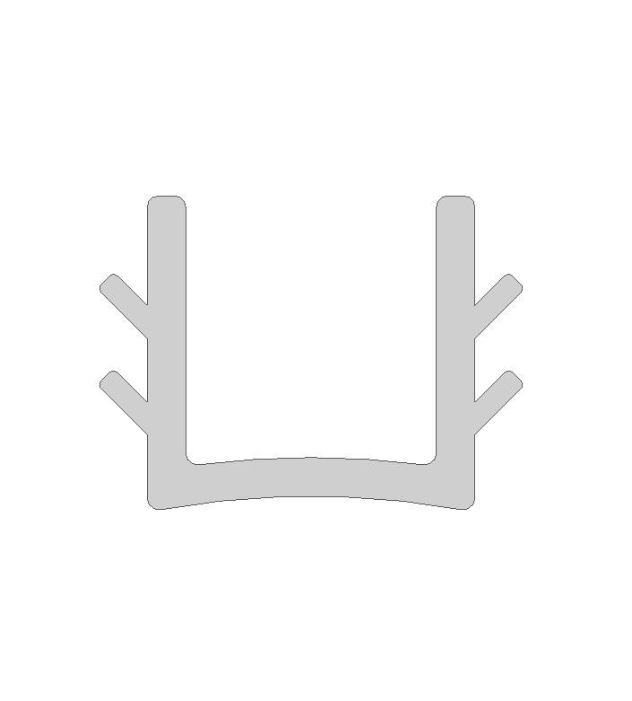 Einfassprofil für 6 mm Füllungen in Länge 9000 mm