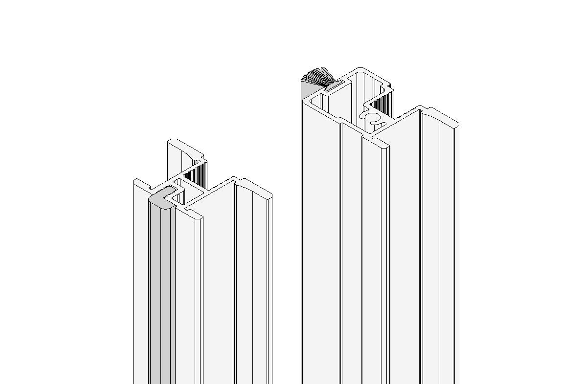 """1 konfektionierter Rahmen """"Profil 3"""" in Alu eloxiert"""