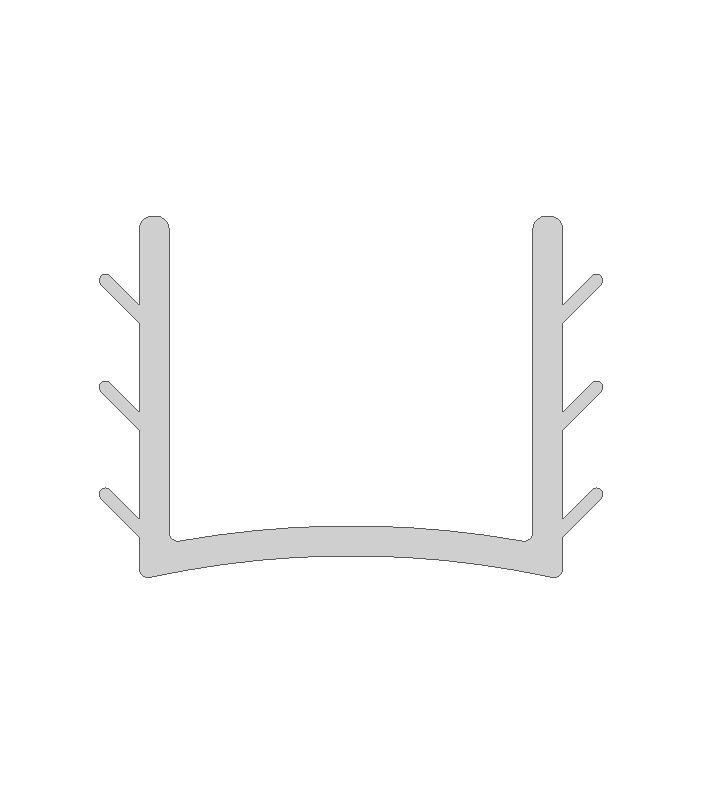 Einfassprofil für 8 mm Füllungen in Länge 9000 mm