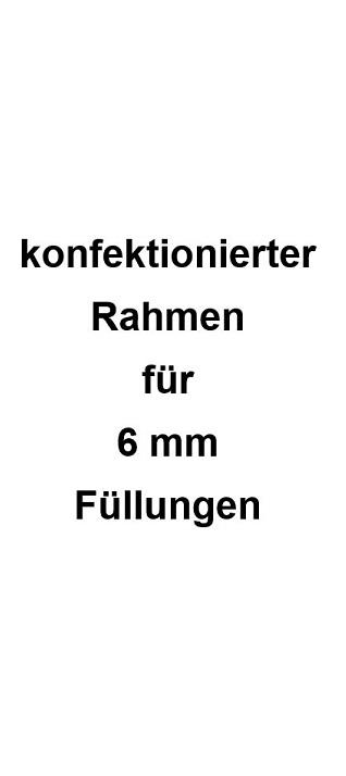 "1 konfektionierter Rahmen hängend ""Profil 1 eckig"" in Alu eloxiert"