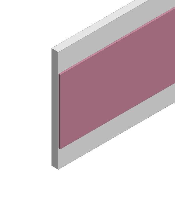Dekorleiste 30 mm zum aufkleben auf Füllung in Alu eloxiert