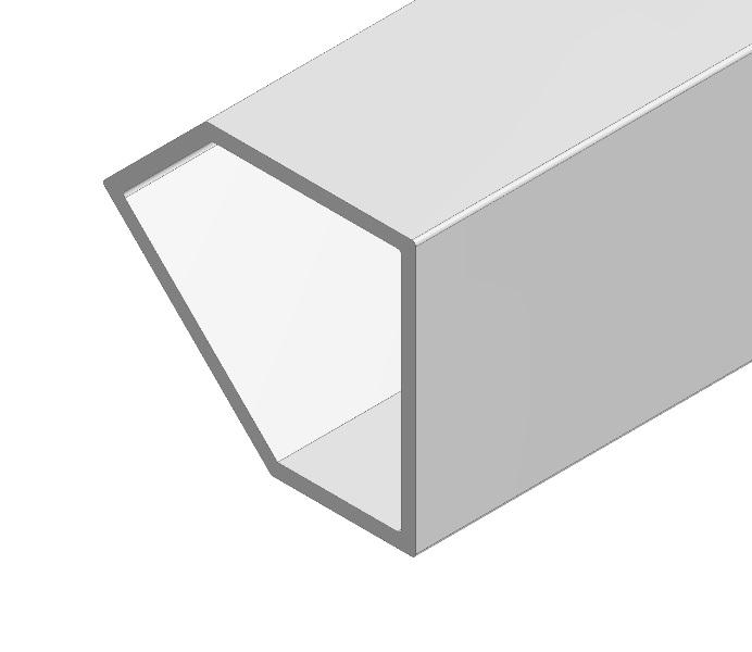 1 VE Eckprofil 45° sym.