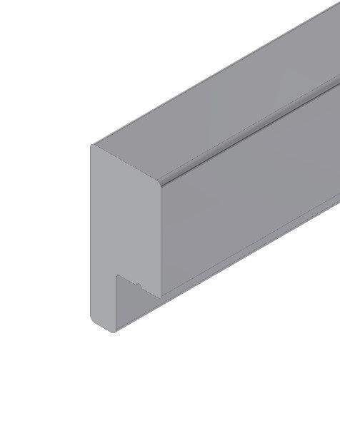 1 VE Griffleiste für Profil 1A und 3A