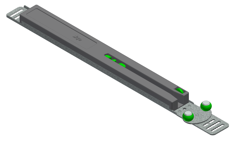 1 VE Laufrollenblech-Dämpfer-Kombination (LbDK.) oben - 15 kg