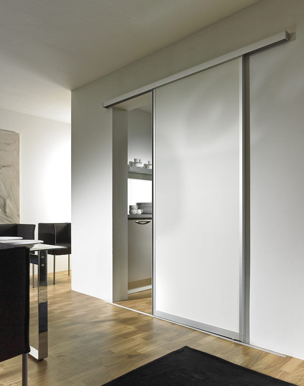 """Standard DIN-Tür"" Profil 1 in Melamin weiß"