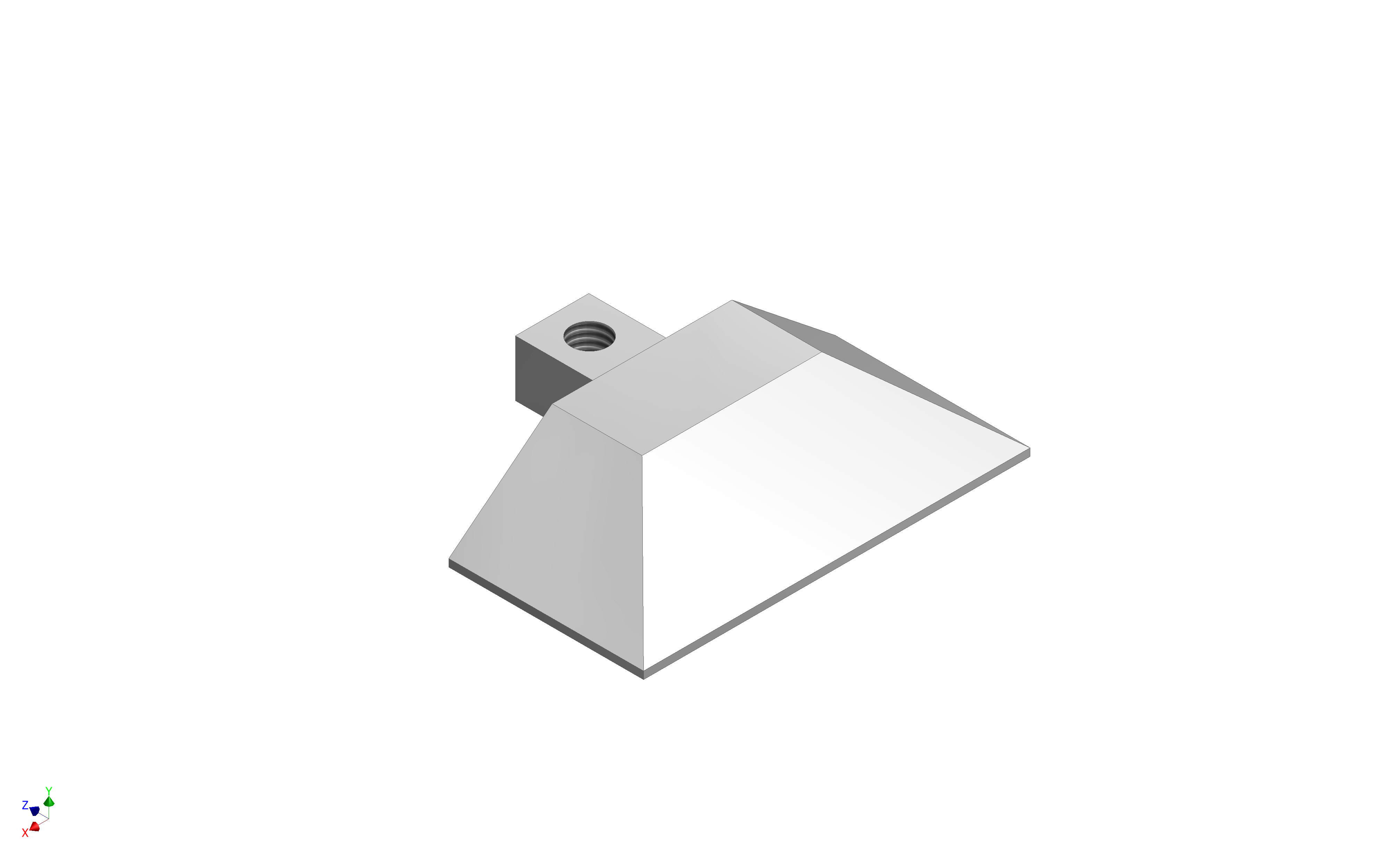 1 VE Endkappe Aluminium für 1-läufige Bodenschiene aufgelegt