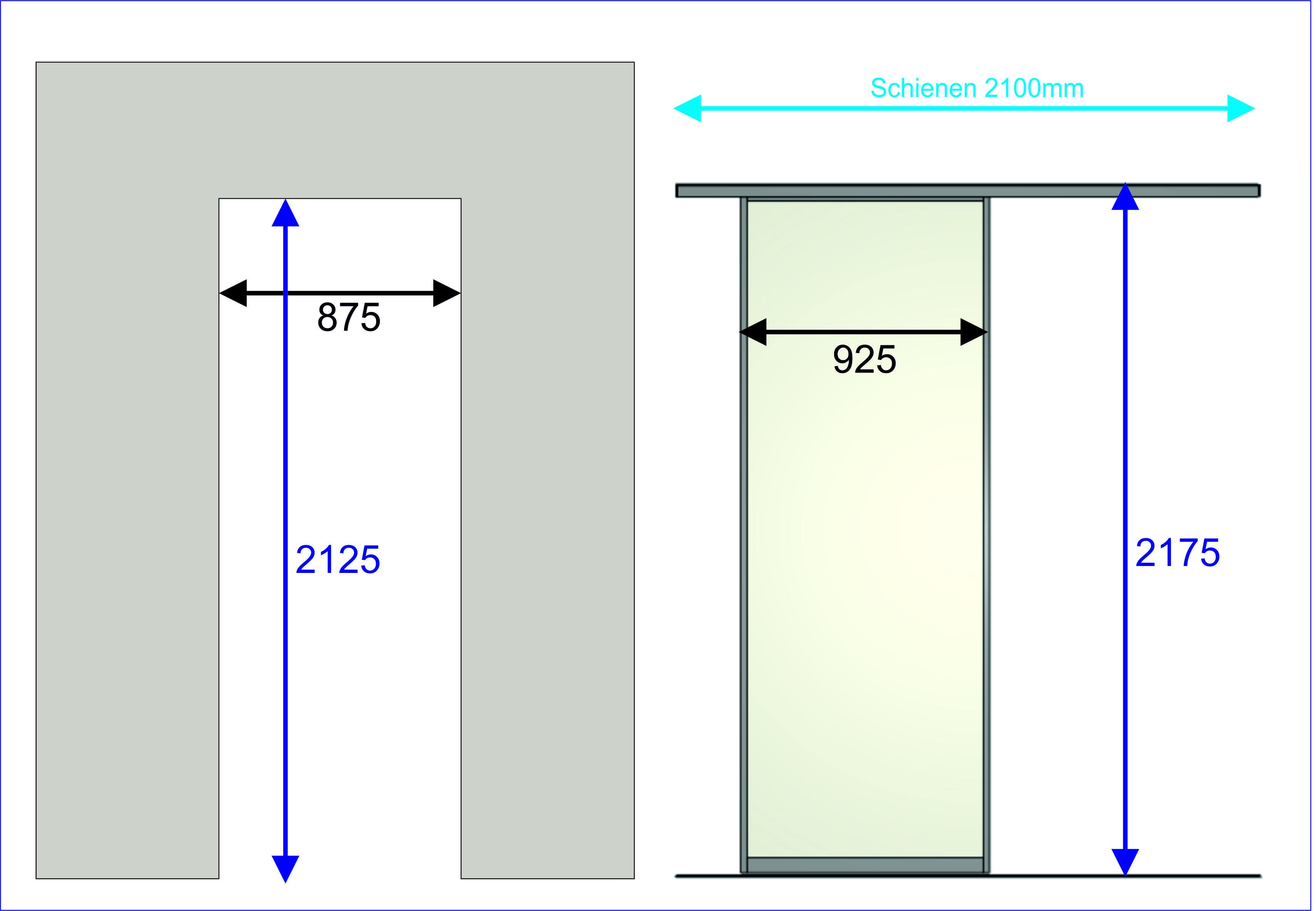 """Standard DIN-Tür"" Profil 1 in VSG hellmatte Folie"