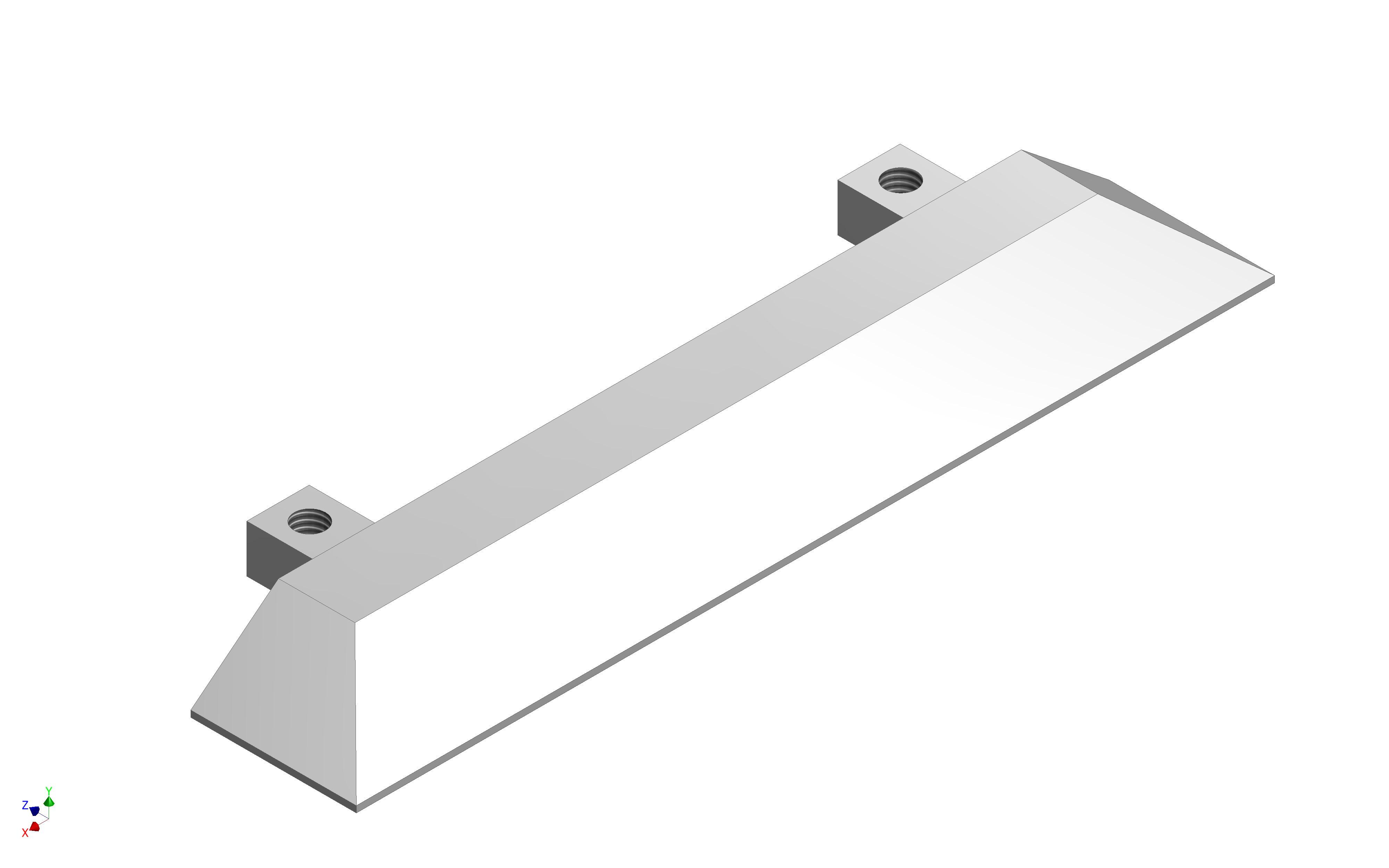 1 VE Endkappe Aluminium für 2-läufige Bodenschiene aufgelegt